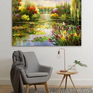 """Πίνακας σε καμβά Διάσημοι Ζωγράφοι """"Garden of Monet"""""""