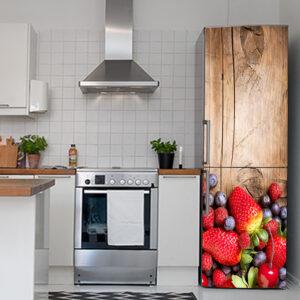 """Αυτοκόλλητο Ψυγείου """"Red fruits"""""""