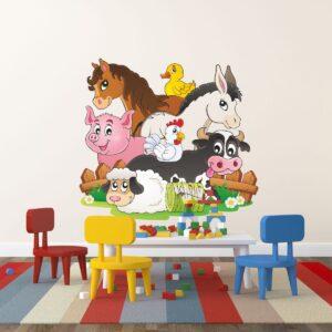 """Παιδικό αυτοκόλλητο Unisex/Διάφορα """"Ζώα της φάρμας"""""""