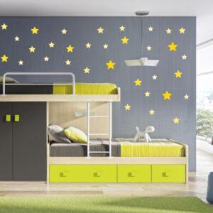 """Παιδικό αυτοκόλλητο Unisex/Διάφορα """"Αστέρια"""" - Σετ 35 αστέρια διαφόρων διαστάσεων"""
