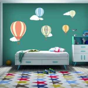 """Παιδικό αυτοκόλλητο Unisex/Διάφορα """"Αερόστατα"""""""