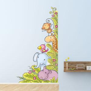"""Παιδικό αυτοκόλλητο Unisex/Διάφορα """"Ζώα της ζούγκλας"""""""