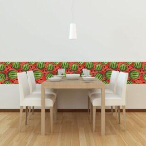 """Αυτοκόλλητο τοίχου Κουζίνας """"Μπορντούρα"""""""