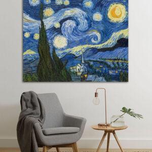 """Πίνακας σε καμβά Διάσημοι Ζωγράφοι """"Vincent Van Gogh stary nights"""""""