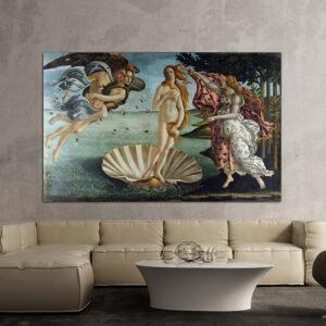 """Πίνακας σε καμβά Διάσημοι Ζωγράφοι """"Sandro Botticelli La nascita di Venere"""""""