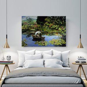 """Πίνακας σε καμβά Διάσημοι Ζωγράφοι """"Monet in Giverny"""""""