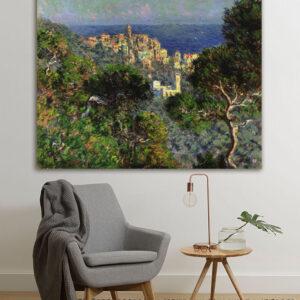 """Πίνακας σε καμβά Διάσημοι Ζωγράφοι """"Monet View of Bordighiera"""""""