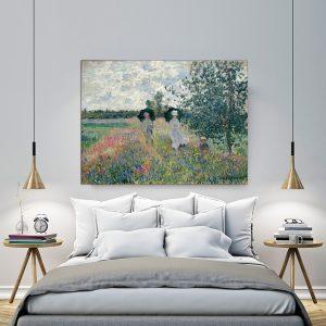 """Πίνακας σε καμβά Διάσημοι Ζωγράφοι """"Monet paris bridgeman giraudon presse"""""""