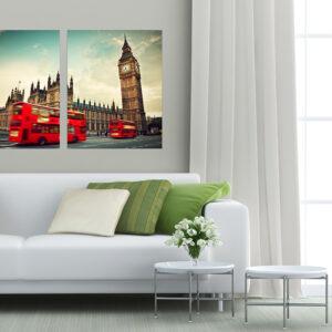 """Πίνακας σε καμβά Δίπτυχος """"London"""""""
