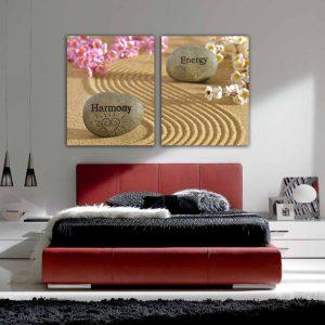 """Πίνακας σε καμβά Δίπτυχος """"Harmony - Energy"""""""