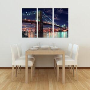 """Πίνακας σε καμβά Τρίπτυχος """"New York"""""""