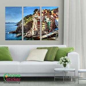 """Πίνακας σε καμβά Τρίπτυχος """"Italy"""""""