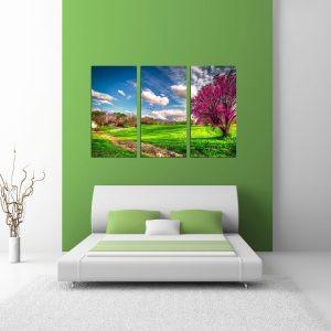 """Πίνακας σε καμβά Τρίπτυχος """"Landscape"""""""