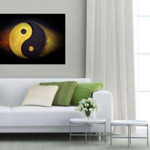 """Πίνακας σε καμβά Ορθογώνιος """"Yin Yang"""""""