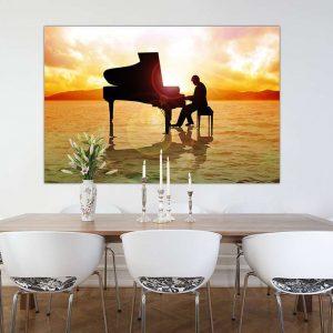 """Πίνακας σε καμβά Ορθογώνιος """"Piano"""""""