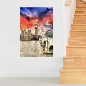 """Πίνακας σε καμβά Ορθογώνιος """"London"""""""