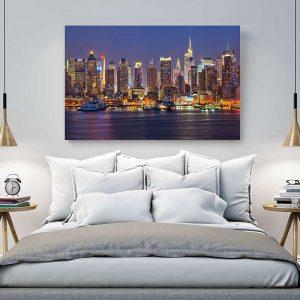 """Πίνακας σε καμβά Ορθογώνιος """"New York"""""""