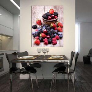 """Πίνακας σε καμβά Ορθογώνιος """"Red fruits"""""""