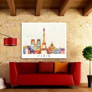 """Πίνακας σε καμβά Ορθογώνιος """"Paris"""""""