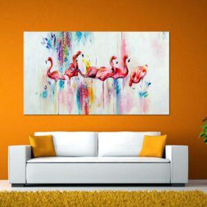 """Πίνακας σε καμβά Ορθογώνιος """"Flamingo"""""""