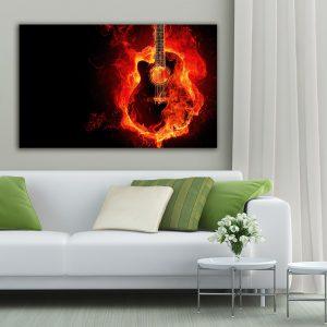 """Πίνακας σε καμβά Ορθογώνιος """"Music"""""""