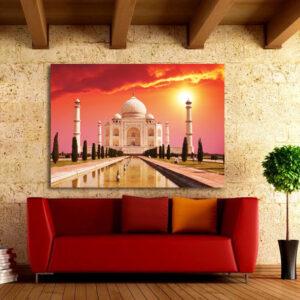 """Πίνακας σε καμβά Ορθογώνιος """"Taj mahal palace India"""""""