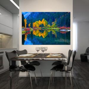 """Πίνακας σε καμβά Ορθογώνιος """"Λίμνη"""""""