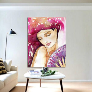 """Πίνακας σε καμβά Ορθογώνιος """"Γυναικεία φιγούρα"""""""
