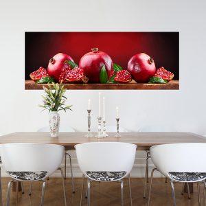 """Πίνακας σε καμβά Πανοραμικός """"Ρόδια - Pomegranates"""""""