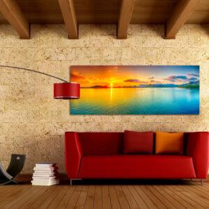 """Πίνακας σε καμβά Πανοραμικός """"Χρώματα της θάλασσας"""""""