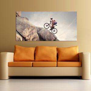 """Πίνακας σε καμβά Πανοραμικός """"Mountain bike"""""""