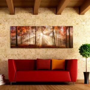 """Πίνακας σε καμβά Πανοραμικός """"Δάσος"""""""