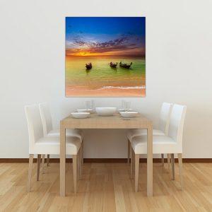 """Πίνακας σε καμβά Τετράγωνος """"Εξωτική παραλία"""""""