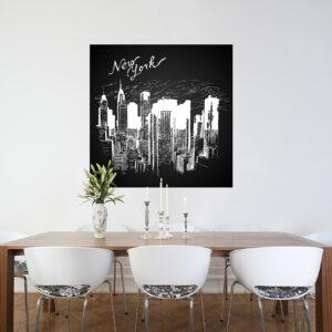 """Πίνακας σε καμβά Τετράγωνος """"New York"""""""