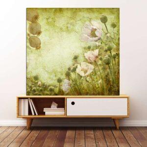 """Πίνακας σε καμβά Τετράγωνος """"Λουλούδια   """""""