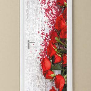 """Αυτοκόλλητο Πόρτας """"Κόκκινα τριαντάφυλλα"""""""