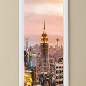 """Αυτοκόλλητο Πόρτας """"New York Manhattan"""""""