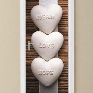 """Αυτοκόλλητο Πόρτας """"Dream Love Hope """""""