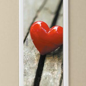"""Αυτοκόλλητο Πόρτας """"Κόκκινη καρδιά"""""""