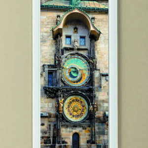 """Αυτοκόλλητο Πόρτας """"Αστρονομικό ρολόι στην πράγα"""""""