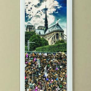 """Αυτοκόλλητο Πόρτας """"Κλειδαριές της αγάπης στο Παρίσι"""""""