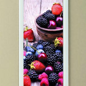 """Αυτοκόλλητο Πόρτας """"Κόκκινα φρούτα"""""""