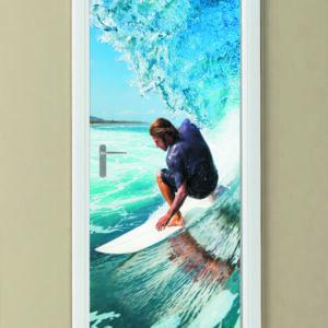 """Αυτοκόλλητο Πόρτας """"Surfing"""""""