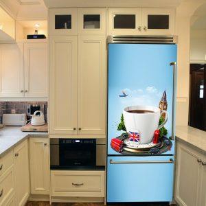 """Αυτοκόλλητο Ψυγείου """"Coffee in London"""""""