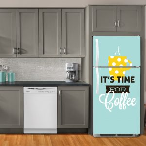 """Αυτοκόλλητο Ψυγείου """"it's time for coffee"""""""