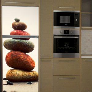 """Αυτοκόλλητο Ψυγείου """"Xρωματιστές πέτρες"""""""