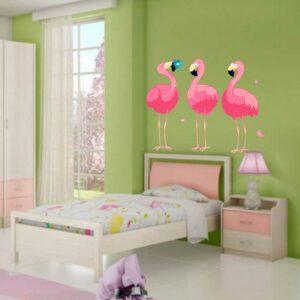 """Παιδικό αυτοκόλλητο Κορίτσι """"Flamingo"""""""
