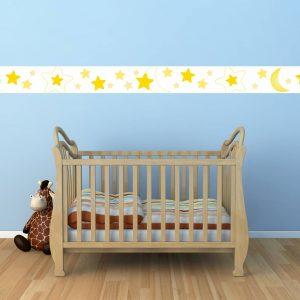"""Παιδικό αυτοκόλλητο Unisex/Διάφορα """"Μπορντούρα με αστέρια"""""""