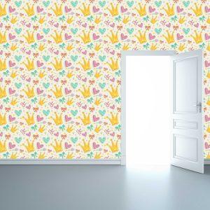 """Παιδική ταπετσαρία τοίχου """"Τοίχος για πριγκίπισσες"""""""