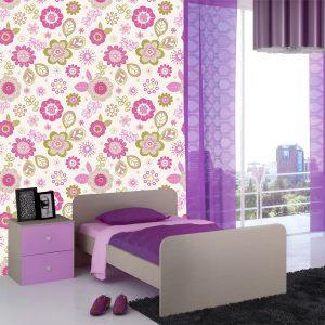 """Παιδική ταπετσαρία τοίχου """"Λουλούδια - Flowers"""""""